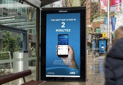 ANZ Offers Commuters Bus, Train + Tram Timetable Info In OOH Work via TBWA, PHD and JCDecaux