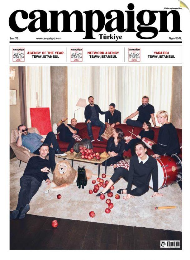 TBWA\Istanbul on the cover of Campaign Turkey