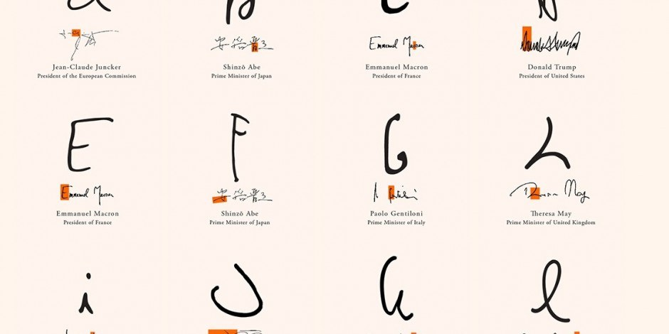 Charity group creates new font from letters in G7 leaders' signatures ahead of summit
