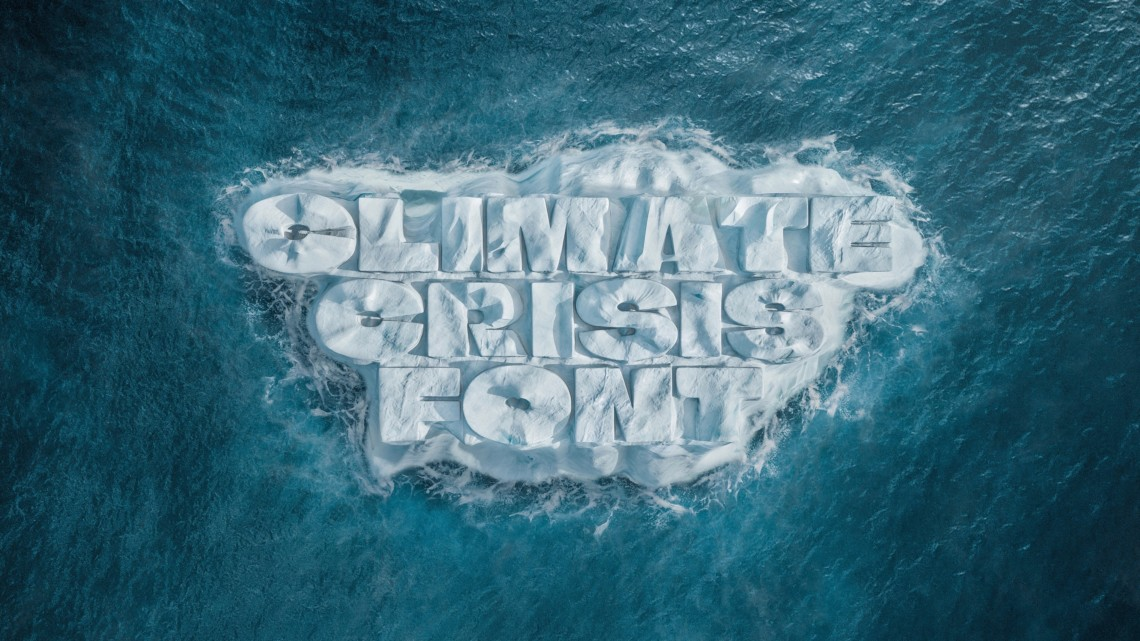 This 'Climate Crisis Font' Shrinks as the Polar Ice Caps Melt