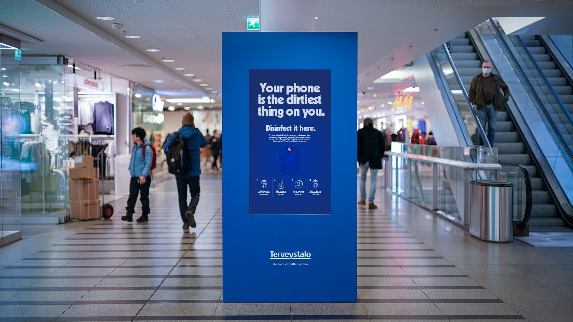 These Billboards Double As Disinfecting Stations For Your Phone