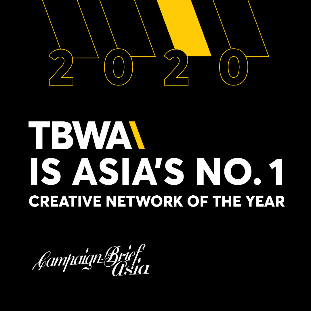TBWA Ranks #1 Network in Asia for the First Time in the Campaign Brief Asia 2020 Creative Rankings