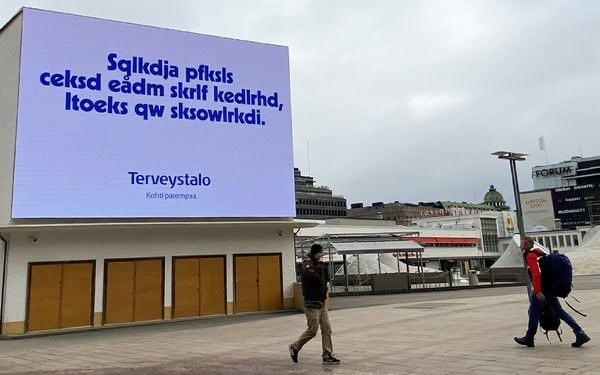 These Clever Finnish Billboards Are Written in Gibberish for One Important Reason
