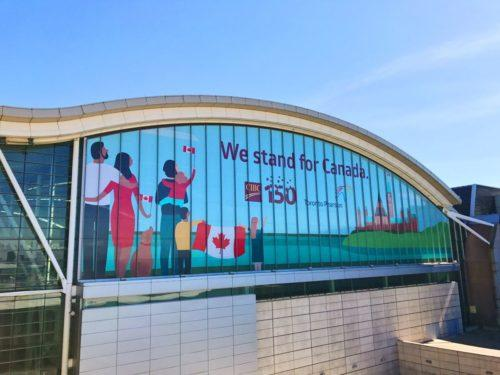 Icon wraps Pearson Airport for Canada 150