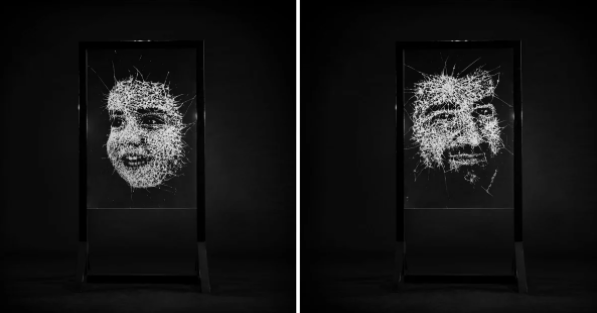 Lebanese TV Station Commissions Glass Portraits to Demand Justice for Beirut Blast Victims