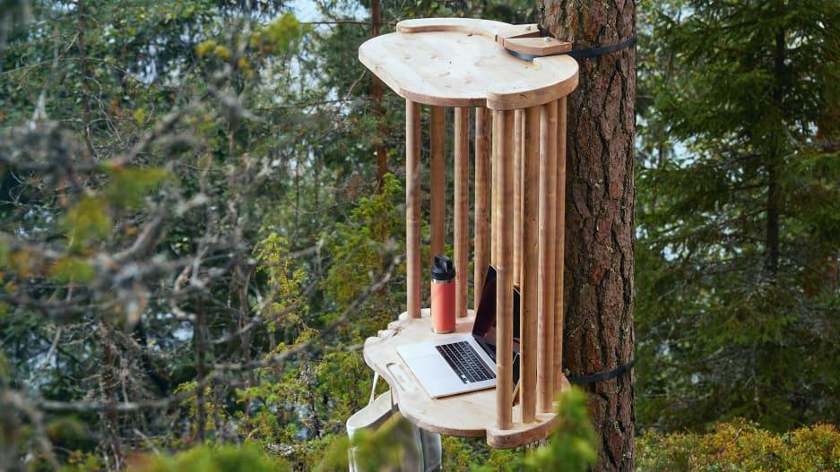 Forget coworking. Your next desk could be in the middle of a forest